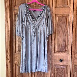 BCBG Maxazria gray embellished dress XL